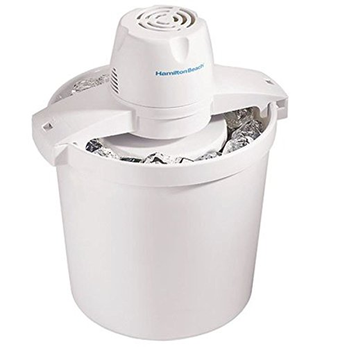 Discover Bargain Hamilton Beach 68330N 4-Quart Automatic Ice-Cream Maker,Cream