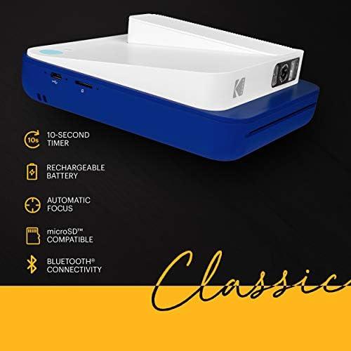 Kodak Smile Classic Digital Instant Camera with Bluetooth (Blue) Stickers Bundle