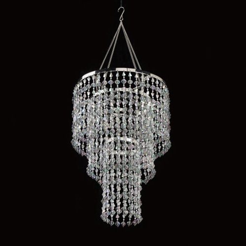 Chandelier with Light Kit, Gemstone Beaded, 16 inches Long by Trans Ocean Ent, Inc