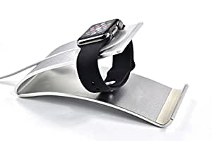 Aluminum Charging Stand for Apple Watch and iPhone (Silver)