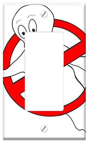 Switch Plate Single Rocker/GFCI - Spirit Ghost Catcher Ghost Hunters Prohibitory