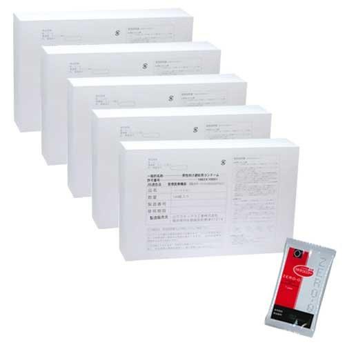 《まとめ買いセット》ニューパーマスキン(Lサイズ)144個入x5箱 + リンクルゼロゼロ(1個入)セット【fr-111】 B01HGO72MQ
