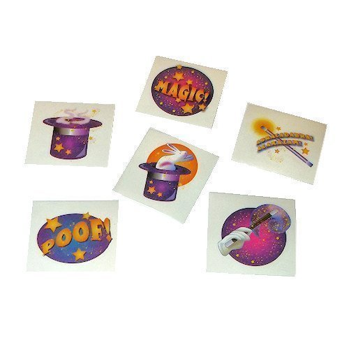 - Magician Magic Party Tattoos - 72 pcs