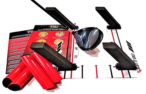 The Only Base & Poles Swing Training Aid Designed for Driver, Woods & Irons (Patent Pending). Groove a Better Swing Path. Use Black Poles for Woods, Red Poles for Irons. Slot It Golf Swing Trainer (Best Driver For Slow Swing Speed 2019)