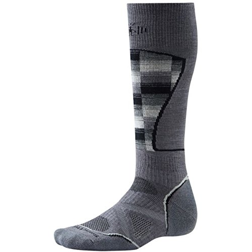 Smartwool Herren Socken PHD Ski Medium Muster Socken–Graphit/Weiß