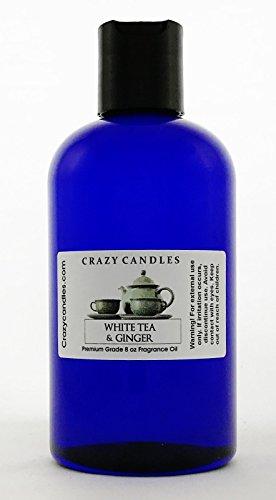 Scent Tea Ginger - Crazy Candles 8oz White Tea & Ginger Bottle 8 Fl Oz Each (237ml) Premium Grade Scented Fragrance Oil