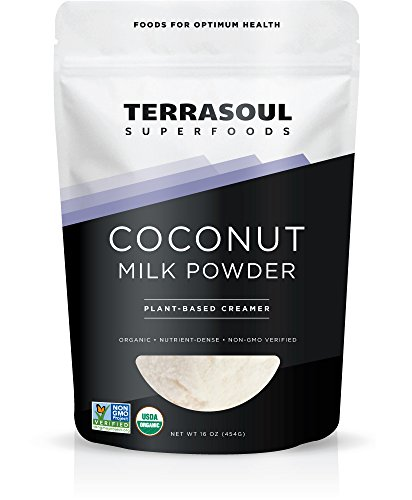 Terrasoul Superfoods Organic Coconut Milk Powder (Plant-Based Keto), 16 Ounces