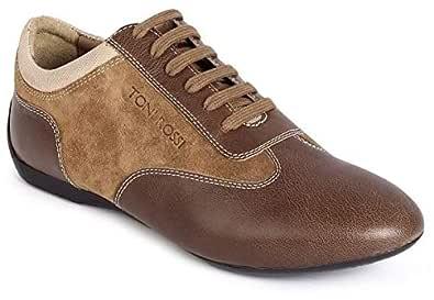 Toni Rossi A038 100 Fashion Sneakers for Men - 41 EU, Brown