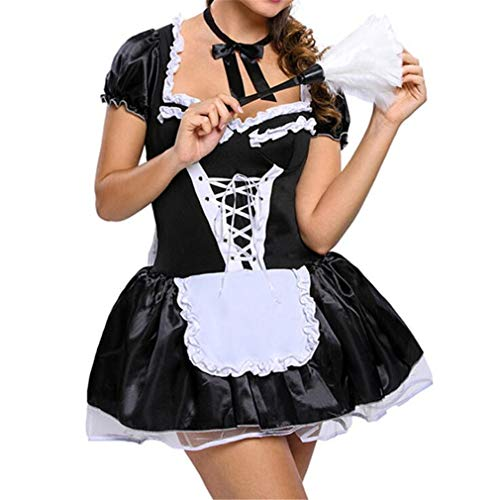 SPP PANDA Black Sexy for Women Character Clothing Maid Cosplay Large Size (Does Not Include The Props On The -