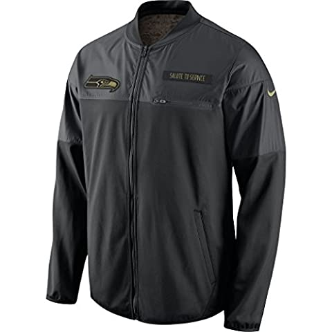 Seattle Seahawks 2016 Nike NFL Salute to Service Men's Hybrid Jacket (2XL) (Seahawks Nike Ko Hoodie)