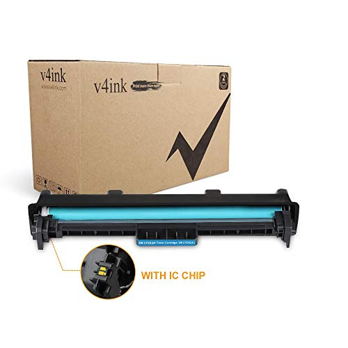 V4INK Compatible 32A CF232A Drum Unit Replacement for Laserjet M203dw M203d M203dn Laserjet Pro MFP M227fdw M227fdn M227sdn Toner Printern, 1 Pack with Chip ()