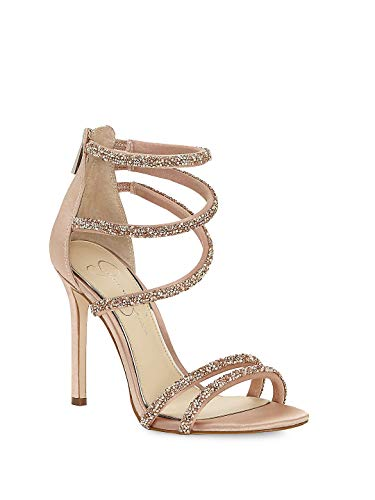 Jessica Simpson Women's JAMALEE Heeled Sandal, Nude Blush, 8.5 Medium US