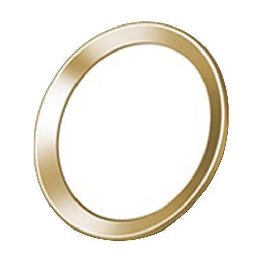 Metal botón de inicio calcomanía Touch ID Apoyo Protector de visualización para iPhone 5S 6S 6PLUS de 7, blanco, dorado...