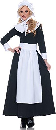 (Woman's Pilgrim Costume, Black/White,)