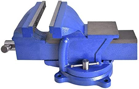 8 Swivel Bench Vise 8-Inch Heavy Duty Bench Vise Clamp Vises Locking Base Top Anvil Work Bench Fit for Home and Business Application