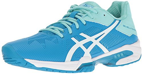 ASICS Women's Gel-Solution Speed 3 Tennis Shoe, Aqua Splash/White/Diva Blue, 7 M US