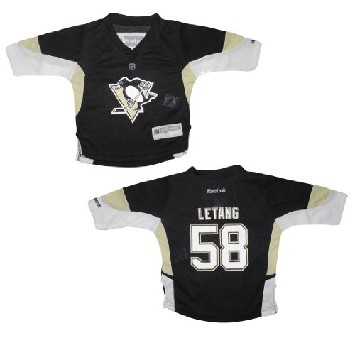 Baby Infant / Boys NHL Pittsburgh Penguins Letang #58 Hockey Jersey / Sweater - Black & Yellow