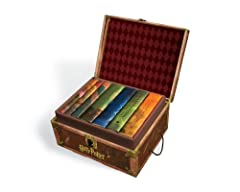 HARRY POTTER BOXED SET 1-7 includes the seven phenomenal Harry Potter hardcover books by best selling author J. K. Rowling. These books are housed in a collectible trunk-like box with sturdy handles and privacy lock. Bonus decorative stickers...