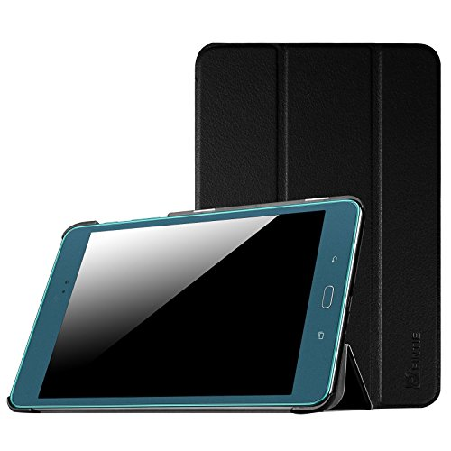Fintie Samsung Galaxy Tab A 8.0 (2015) Case, Ultra Lightweight Protective Slim Shell Stand Cover with Auto Sleep/Wake for Tab A 8.0 Inch Tablet SM-T350 2015 Release (NOT Fit 2017 Tab A 8.0), Black (Case Samsung Galaxy Tab)