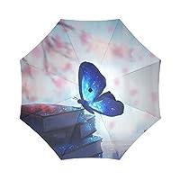 Travel Umbrella Butterfly Windproof, Anti-UV waterproof Lightweight Portable Outdoor use
