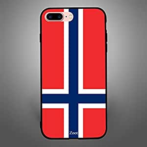 iPhone 7 Plus/ 8 Plus Case Cover Norway Flag, Zoot Printed Hard Back Cover TPU Trendy Modern Design Print with Quality Paint Color Pattern Long Lasting