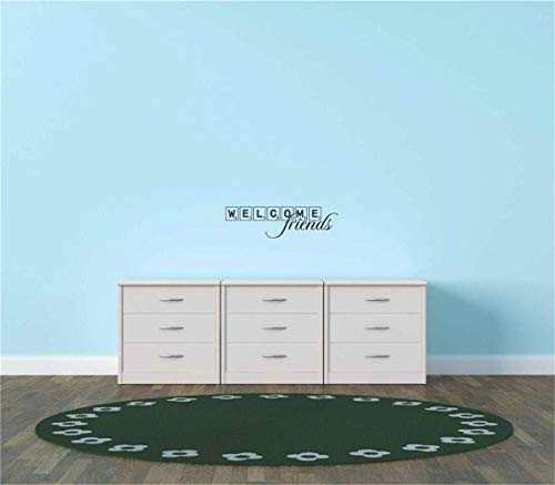 persh Wall Stickers Design Art Words Sayings Removable Lettering Welcome Friends for Living Room Entryway ()