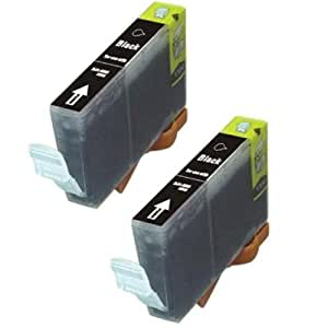 Amsahr BCI6BK Canon BJC-8200 Remanufactured Replacement Ink Cartridges - Includes Two Black Cartridges Ink