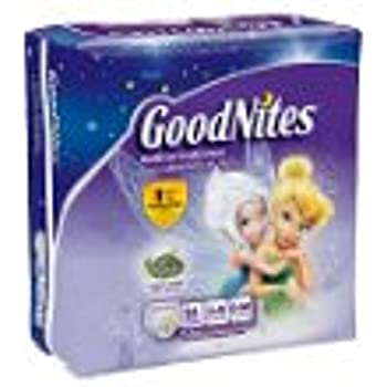Pull-Ups GoodNites Underwear, Girls, Small-Medium (38-65 lbs), Case of 78 (3 Mega bags of 26)