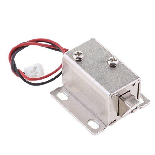 Homyl Mini Cerradura Magnética Eléctrica Puerta Armario Armario Perno, 3 Modelos Seleccionables - Perno Abajo 6V/1A