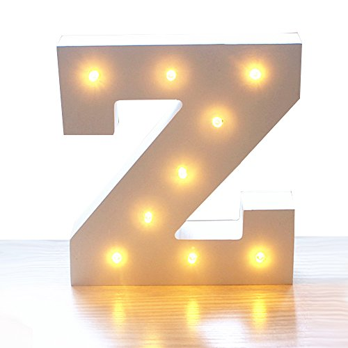 Kerong DIY LED Light Up Wooden Alphabet Marquee Letter Lights for Festival Decorative Home Party Wedding Scene Holiday Birthday Christmas Valentine,Battery Operated Warm White (Z) by Kerong
