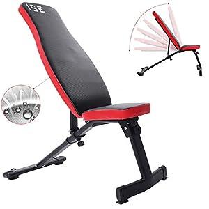 ISE Banc de Musculation Pliable Banc de Poids Réglable perméable à l'air Inclinable Exercice Gymnastique à Domicile…