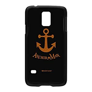 Sassy - Anchor Man 10070 Black Hard Plastic Case Snap-On Protective Back Cover for Samsung? Galaxy S5 by Sassy Slang + FREE Crystal Clear Screen Protector