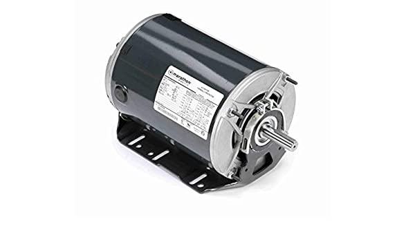 Open Drip Proof 5.5-5.6//2.8 amp 1800 RPM Resilient Ring Mount 3 Phase 208-230//460V 1 1//2 hp Marathon K1415 56H Frame Fan and Blower Motor Ball Bearing