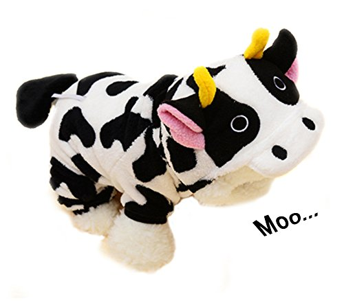 Onmygogo Cow Costumes for Dog and Cats, Pet