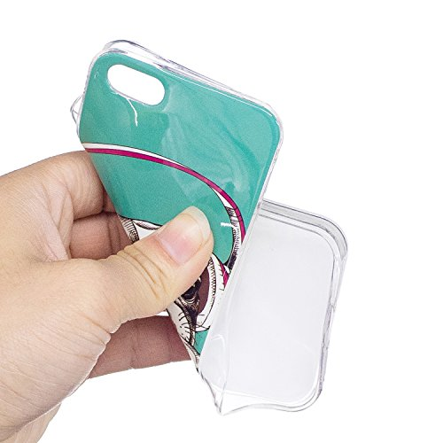 Custodia per Apple iPhone 5S / 5 / SE Cover ,ZXLZKQ bello cane cuffia Alta qualità Morbido TPU Silicone Coperchio Cover Protezione Custodia Soft Shell Skin Case per Apple iPhone 5S / 5 / SE