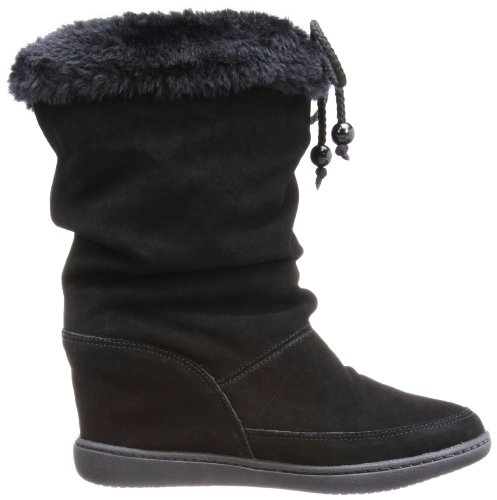 Skechers Plus 3Pyramids - Zapatillas de cuero mujer negro - Schwarz (BLK)