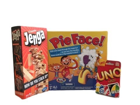 Pie Face, Jenga & Uno Game Bundle by Pie Face, Jenga, Uno