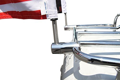Pro Pad 1/2-inch Extended Stainless Steel Flag Mount Kit with 6 by 9-inch USA Flag and 9″ Pole with cone topper
