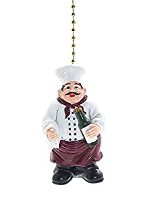 Jolly Fat Italian/French Chef Fan Pull Decorative Light Chain by Clementine Designs