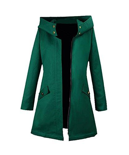 Wish Costume Shop Chise Hatori Cosplay Costume Green Coat Halloween Jacket (Custom Made, Green) -