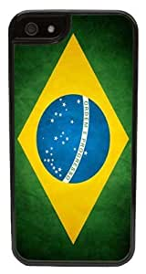 iPhone 6 Plus Case, CellPowerCasesTM Brazil Flag [Flex2 Series] -iPhone 6 Plus (5.5) Black Case [iPhone 6 (5.5) V2 Black] by runtopwell