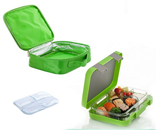 the chill box bento lunch box with insulated bag and icepack import it all. Black Bedroom Furniture Sets. Home Design Ideas