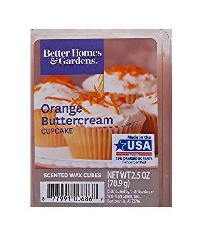 - Better Homes and Gardens Orange Buttercream Cupcake Scented Wax Cubes