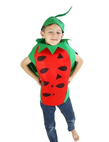 [Watermelon Unisex School Play or Party Costume Children Clothing Fruit Outfit] (Fruit Costumes For Kids)