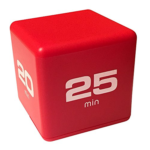 Miracle Cube Timer, Time Management Model, 5-10-20-25 Minute Preset Timer, Red, DF-38