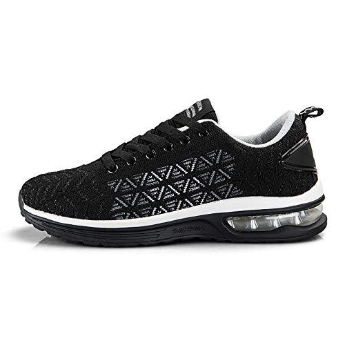 - YIRANFA Men Women Casual Sport Shoes Lace Up Jogging Shoes Outdoor Trail Walking Sneakers 6099-blackwhite-40