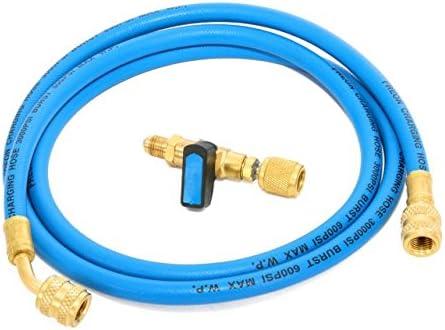 Kältemittel R407c R134a Füllschlauch 3,0m 1//4 SAE 1//4 blau Klimaanlage F7T