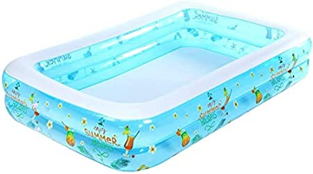Geng Piscinas hinchables Swim Centro Familiar Piscina Inflable, Espesar Rectangular Piscina for niños Ideal for Todos los niños y Adultos: Amazon.es: Hogar