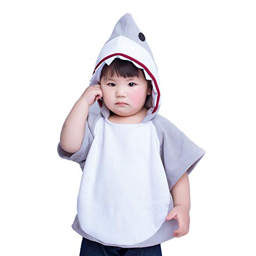 MARGUERAS Children's Shark Halloween Costume Mascot Hoodie (Style -