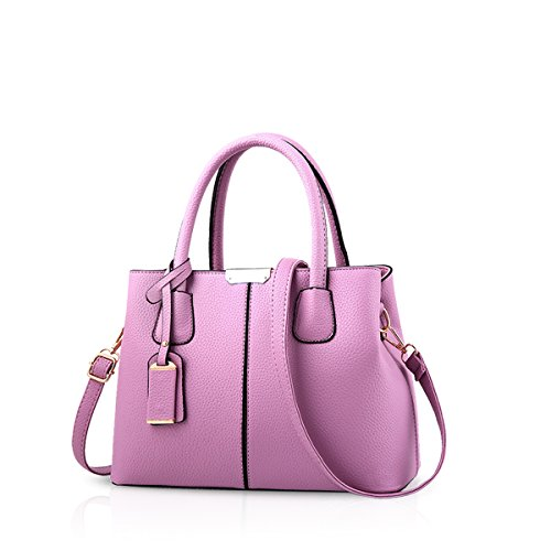 Lady Bag Tote Shoulder Handbags amp;Doris Women Gray Satchel Nicole Leather Crossbody Purse Purple Bag PU X8SIxpEwqw